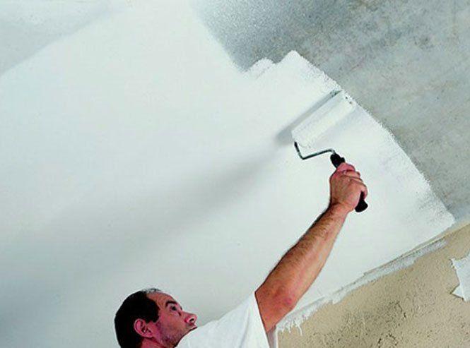 Як фарбувати стелю водоемульсійною фарбою