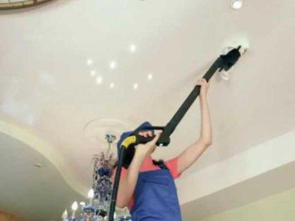 Як почистити натяжну стелю