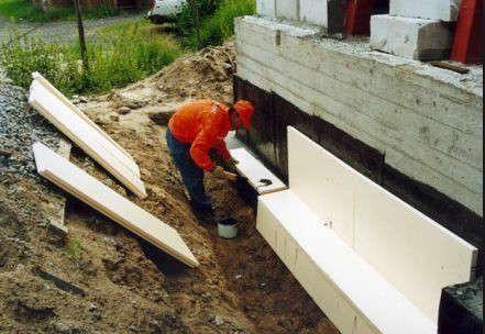 Утеплення фундаменту дерев'яного будинку своїми руками