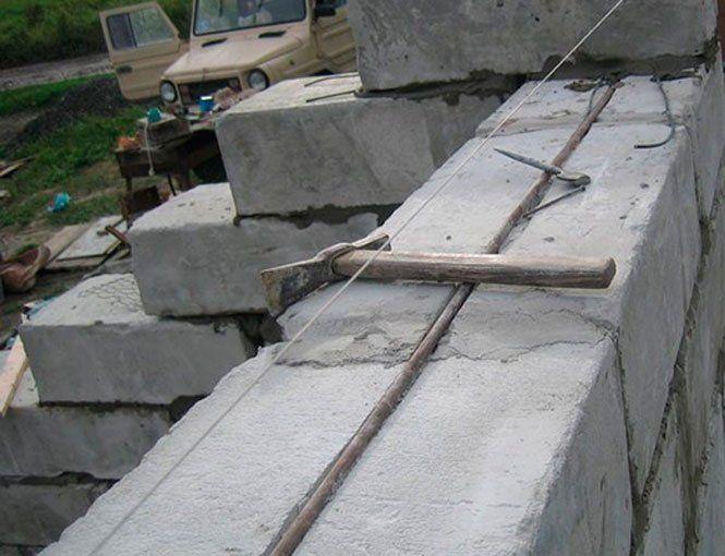 Фундамент для гаража з газобетону