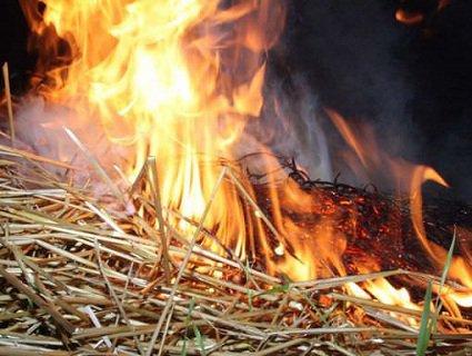 На Волині дитина гралася з сірниками і спалила сіно