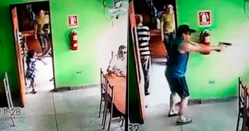 «Добрий вбивця» вивів дитину з кімнати, перш ніж застрелити чоловіка