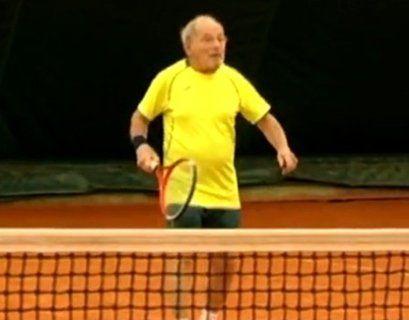 93-річний українець став найстаршим учасником тенісного турніру у США