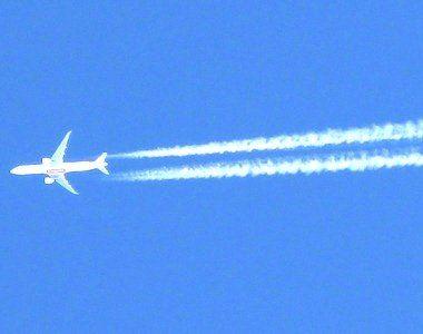 Американський пілот намалював у небі пеніс (фото)