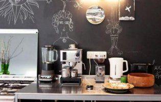 Інтер'єр кухня в стилі кав'ярні