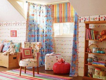 Якими повинні бути штори для дитячої кімнати?