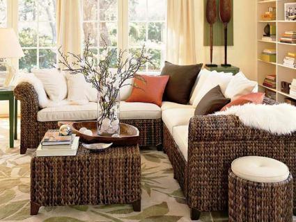 Плетені меблі надають легкості