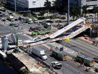 У Маямі обвалився пішохідний міст. 4 людини загинуло (відео)