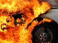 У Луцьку горіло авто, яке належить причетним до «заборольської справи» (відео)