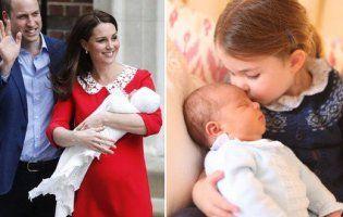 Принцеса Шарлотта поцілувала братика у першій його фотосесії