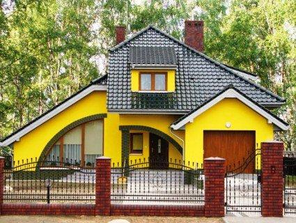 Правила поєднання кольорів фасаду та покрівлі