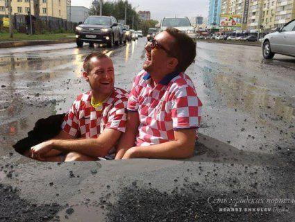 Вболівальників ЧС насмішили баюри в російських дорогах