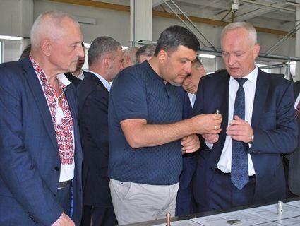 Володимир Гройсман у Луцьку оглянув завод «Мотор» (фото)