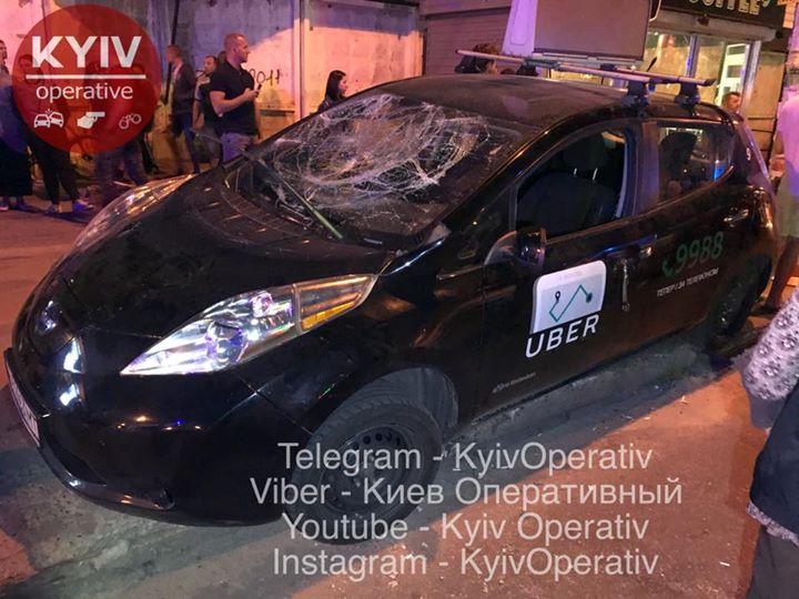 Аварія таксі Uber
