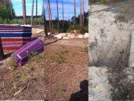 На Київщині грибників нажахали покинуті посеред  лісу труни і могили