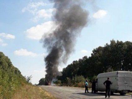 На Сумщині спалахнув автобус, повний дітей (фото)
