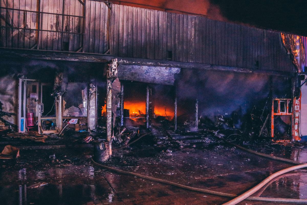 Ринок у Київі - пожежа