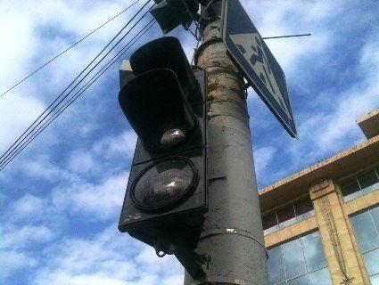 У центрі Луцька не працюють світлофори