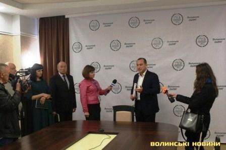 Начальник ВОУЛМГ у Луцьку Олександр Кватирко на конференції