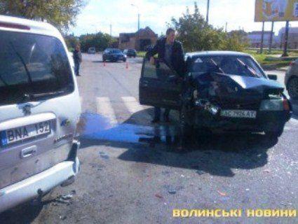 Спіймали водія, який спричинив ДТП у Луцьку (фото)