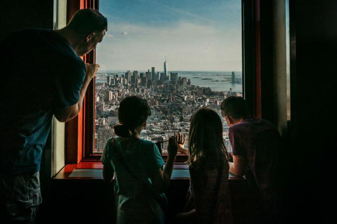 National Geographic - міський пейзаж Нижнього Манхеттена з 80-го поверху Емпайр-стейт-білдінг