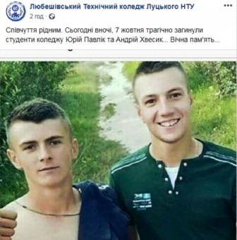 Загиблі студенти у ДТП на Волині 07.10.2018