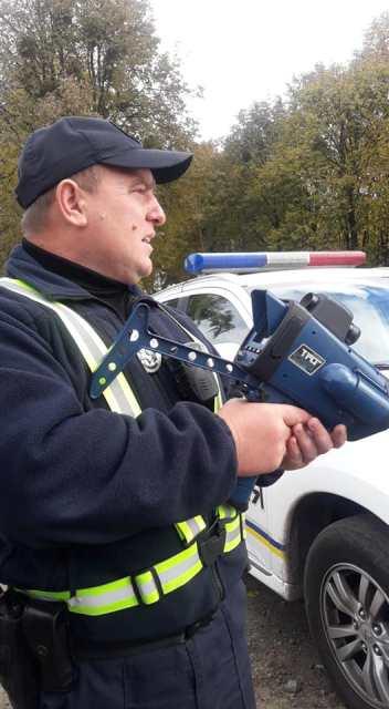 Патрульна служба Волині використовує пристрої вимірювання швидкості TruCam