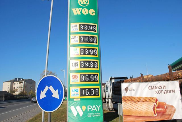 Ціни на бензин у Горохові