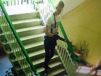 Застрелився в бібліотеці: опублікували фото Рослякова, який розстріляв дітей у Криму  (21+)