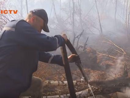 Екологічне лихо на Волині: масштабна пожежа на торфовищах