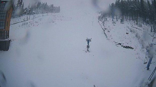 Буковель у снігу _ з відеокамери