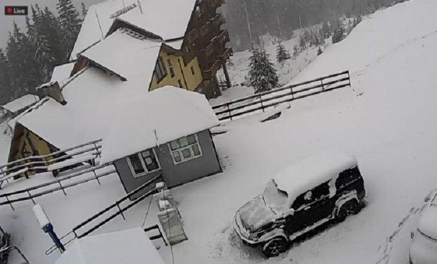 Буковель - сніг у жовтні_з відеокамери