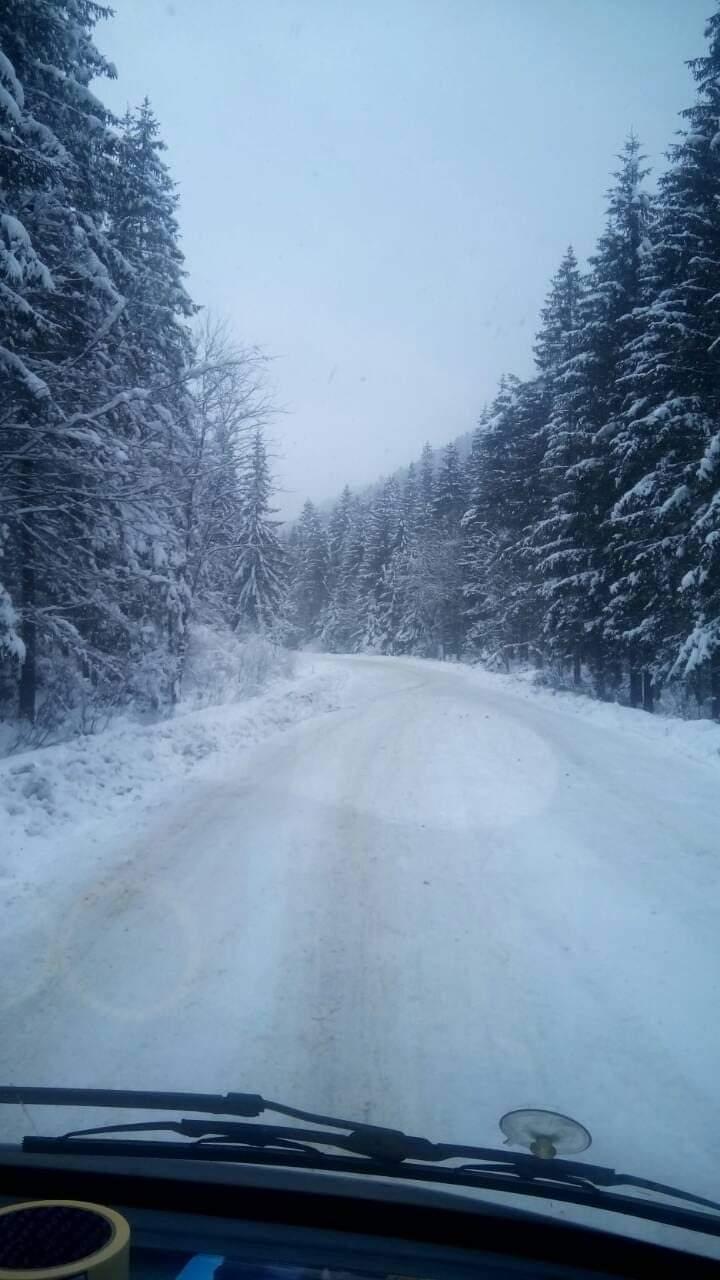 Вишківський перевал - сніг у жовтні