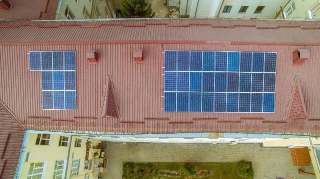 Сонячні батареї Волинська обласна клінічна лікарня