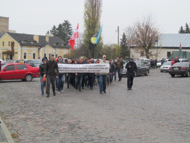 Мітинг гірників шахти № 10 Нововолинська у Луцьку фото 11
