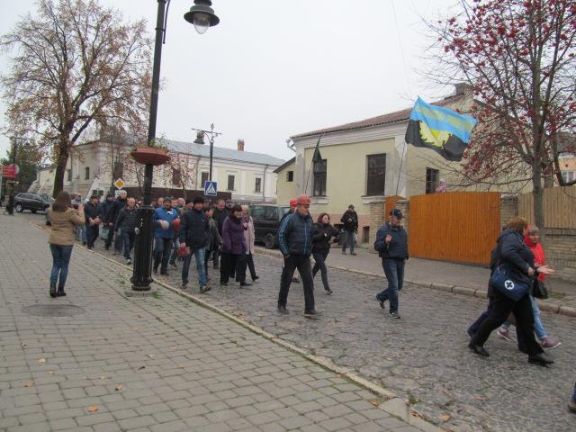 Мітинг гірників шахти № 10 Нововолинська у Луцьку фото 13