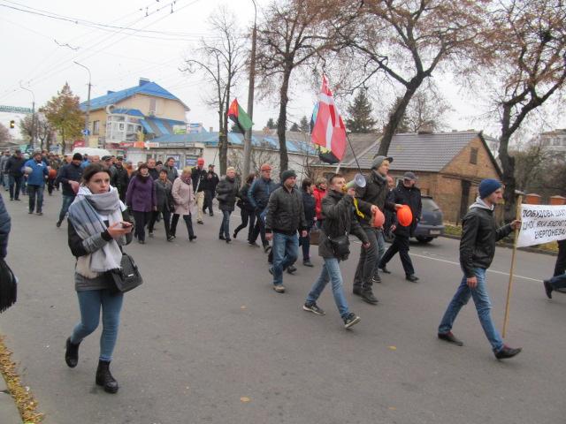Мітинг гірників шахти № 10 Нововолинська у Луцьку фото 15