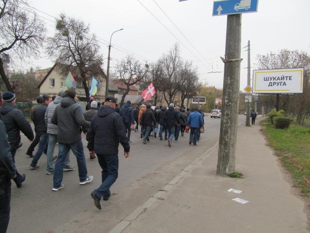 Мітинг гірників шахти № 10 Нововолинська у Луцьку фото 16
