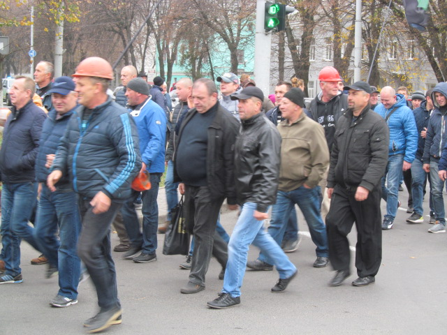 Мітинг гірників шахти № 10 Нововолинська у Луцьку фото 23