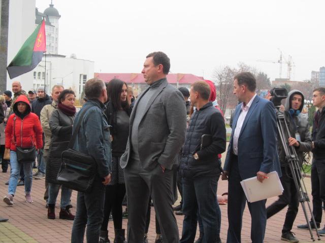 Мітинг гірників шахти № 10 Нововолинська у Луцьку фото 31