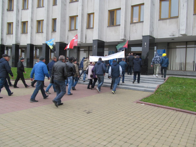 Мітинг гірників шахти № 10 Нововолинська у Луцьку фото 33