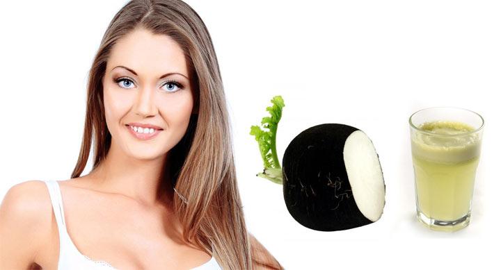 Маска з чорної редька по догляду за волоссям