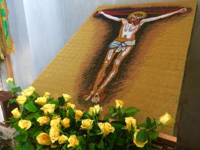 Картина «Розп'яття Ісуса Христа» із сірників