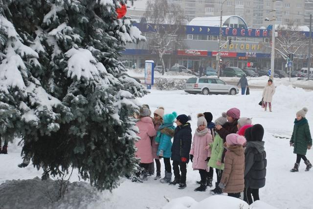 У Луцьку урочисте запалення ялинки на площі Героїв Майдану фото 15