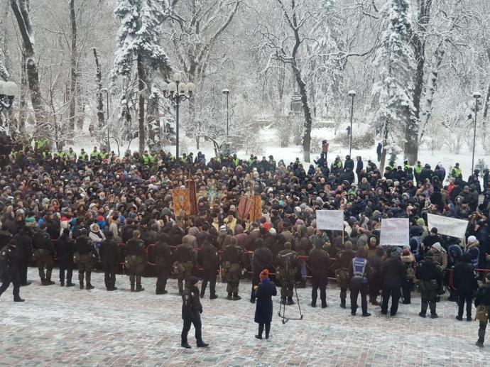 Протест вірян  у Києві