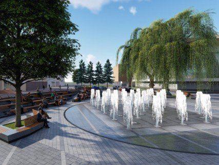 Яким буде фонтан на Театральному майдані у Луцьку?