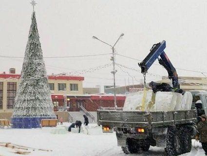 В Росії встановили гірки для дітей з крижаних фекалій