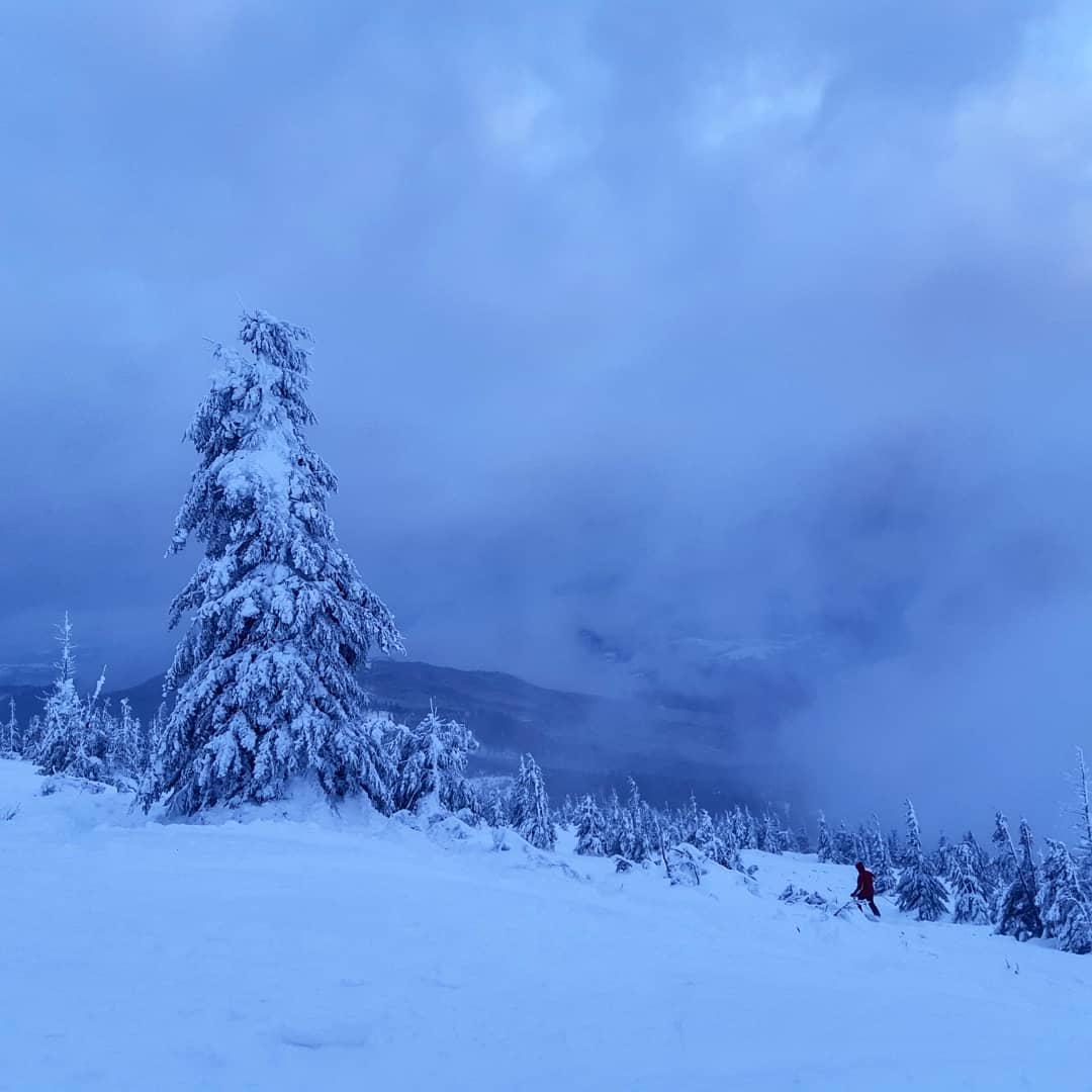 Метровий шра снігу в Карпатах