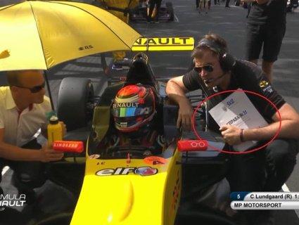 Гоночний інженер розповів, звідки на Гран-прі Монако узялася папка з Гербом України (відео)