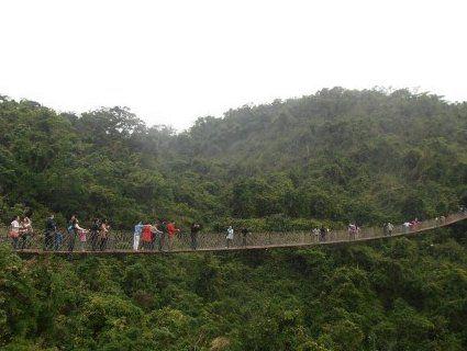 Обірвався мотузковий міст з туристами